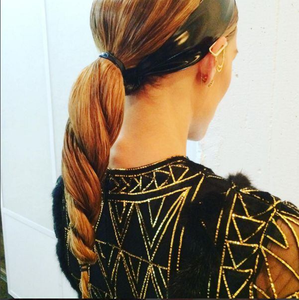 Olivia Palermo's rope braid is on point