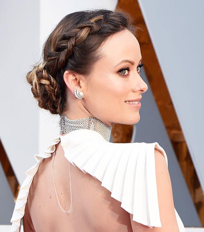 Olivia Wilde's braided bun is perfection
