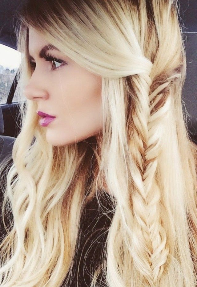 Partial Side Fishtail Braid