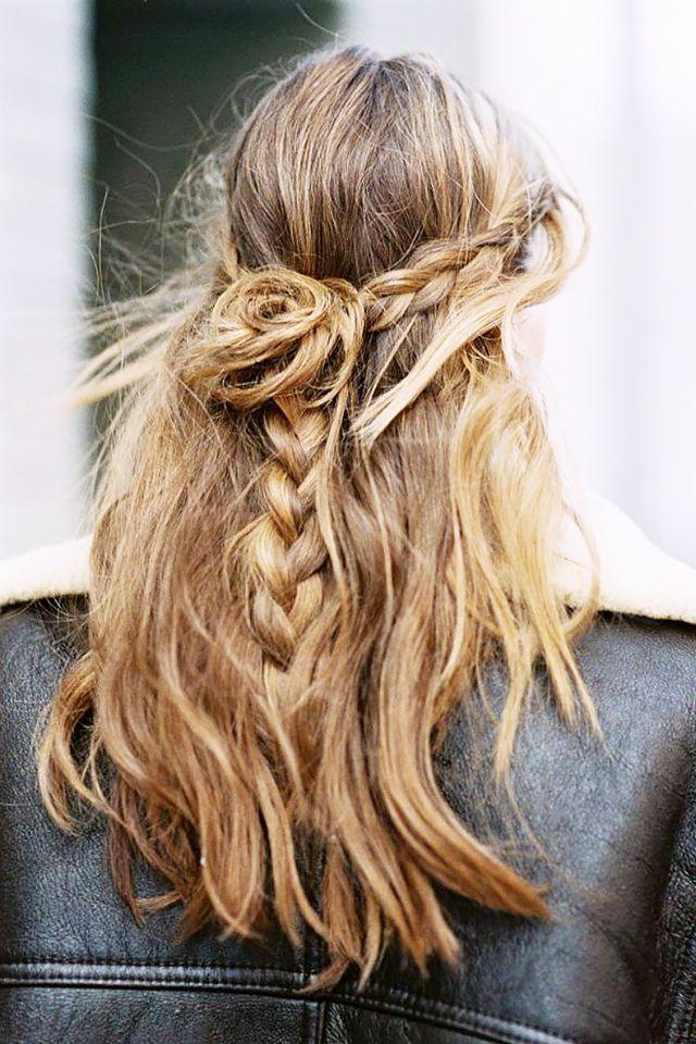 Rose petal braid