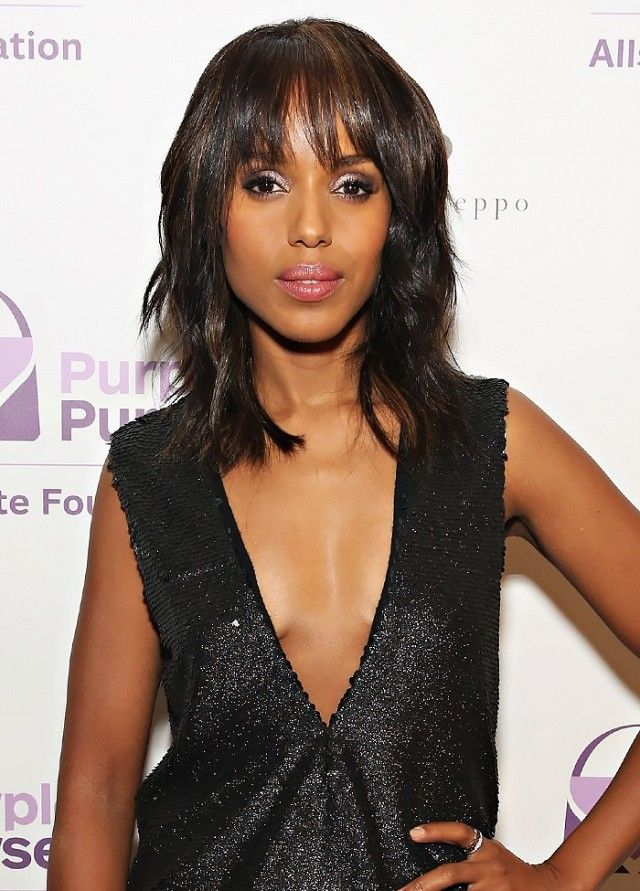 Shag + bangs on Kerry Washington