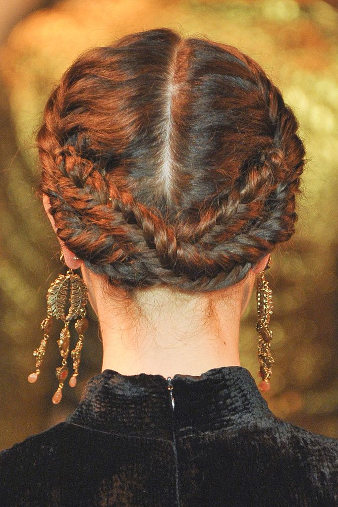 These reverse milk-maid braids will keep your neck cool this summer.