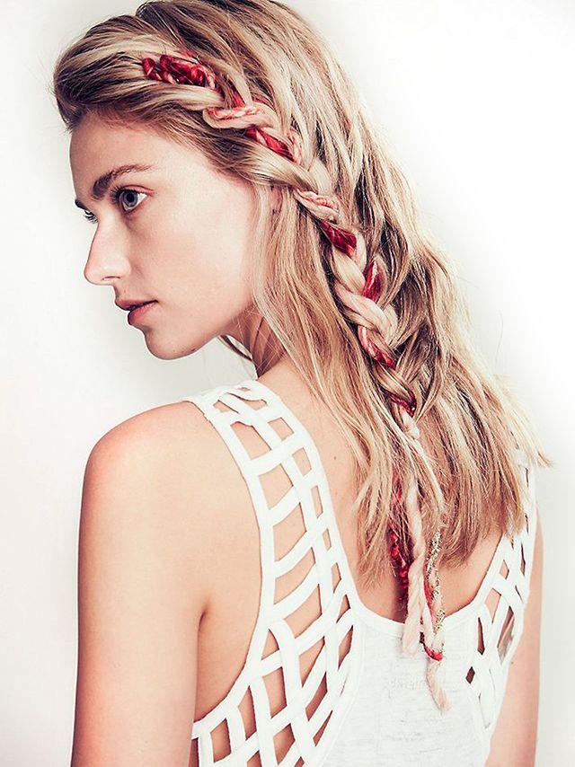Velvet French braid