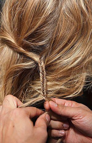 Baby fishtail braid.