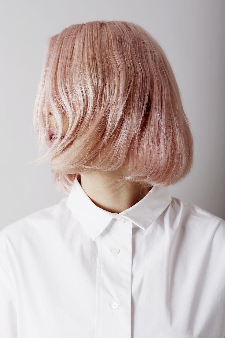 pastel pink bob