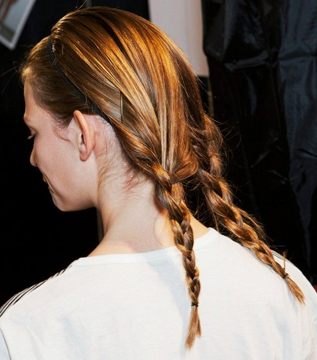 perfectly braided pigtails