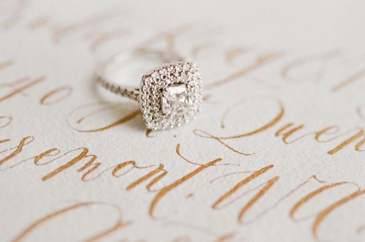 square halo engagement ring | Photography: Jemma Keech