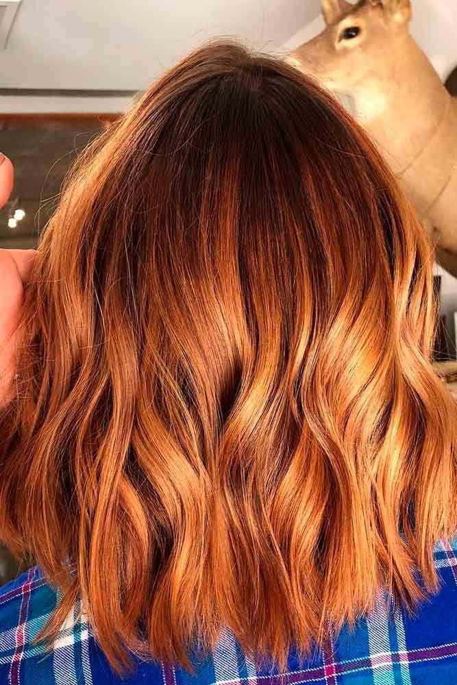 Auburn Hair Color With Highlights ❤️ An auburn hair color is the trend of 20...