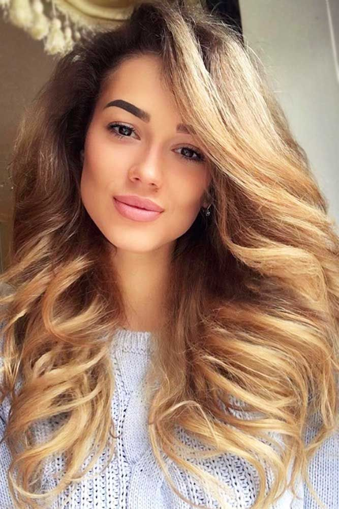 Beautiful Light Caramel Tones Thick Hair #longhair #brownhair #thickhair ❤️ ...
