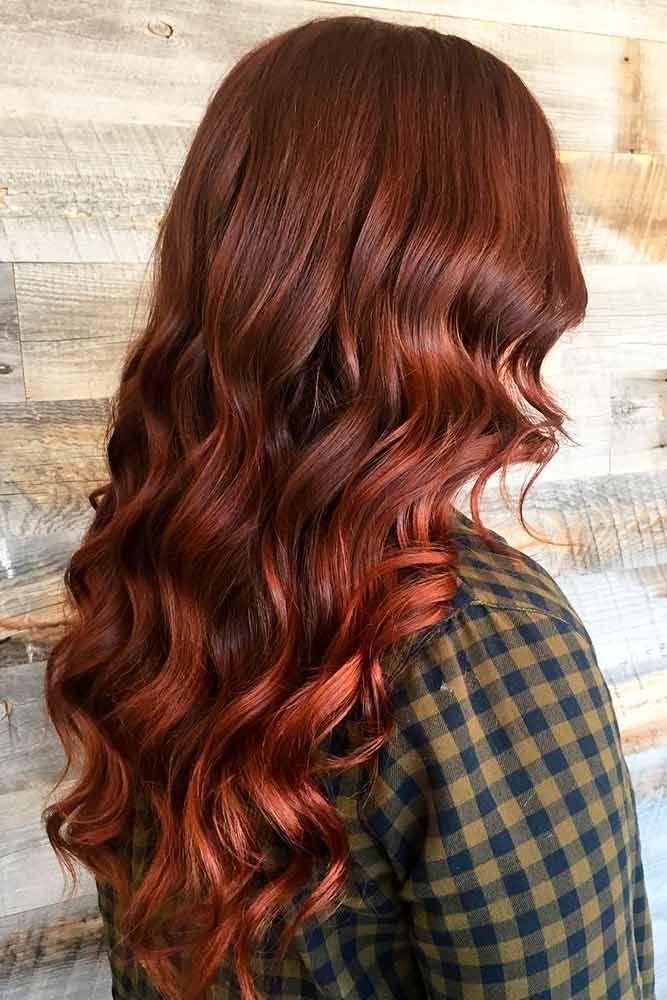Dark Auburn Hair ❤️ An auburn hair color is the trend of 2018. Are you looki...