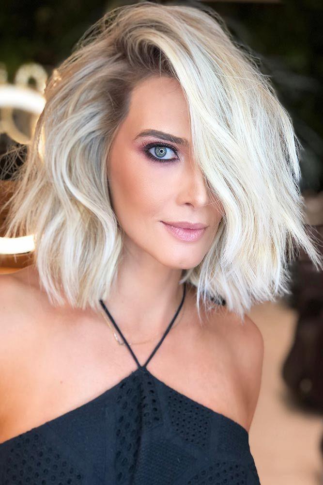 Eye-Catching Cool Toned Blonde #messyhair #bob #platinumblonde ❤️ Blonde hai...