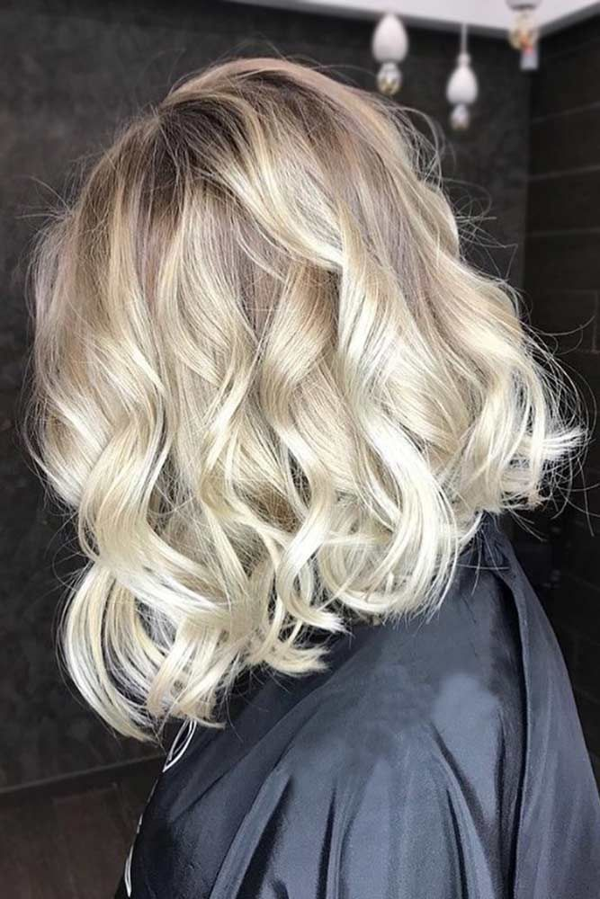 Platinum Wavy Blonde #bob #wavyhair #balayage ❤️ Blonde hair colors will nev...
