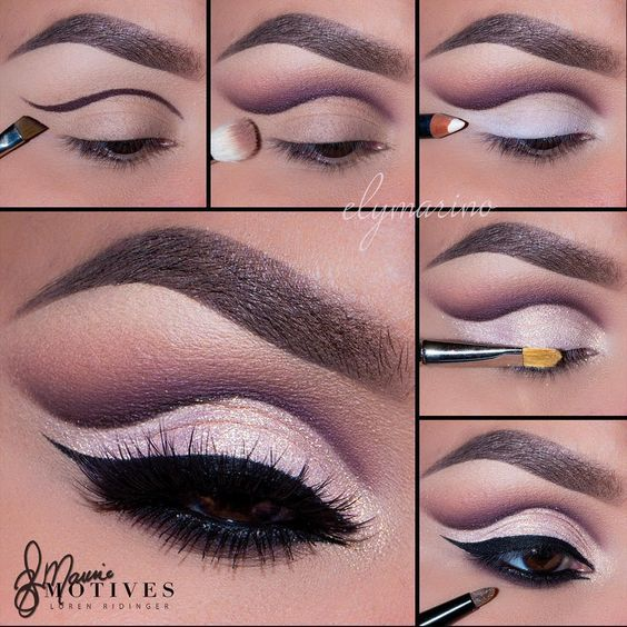 """Gorgeous Cut Crease by #MotivesMaven @elymarino using all Motives! STEPS: 1.B..."