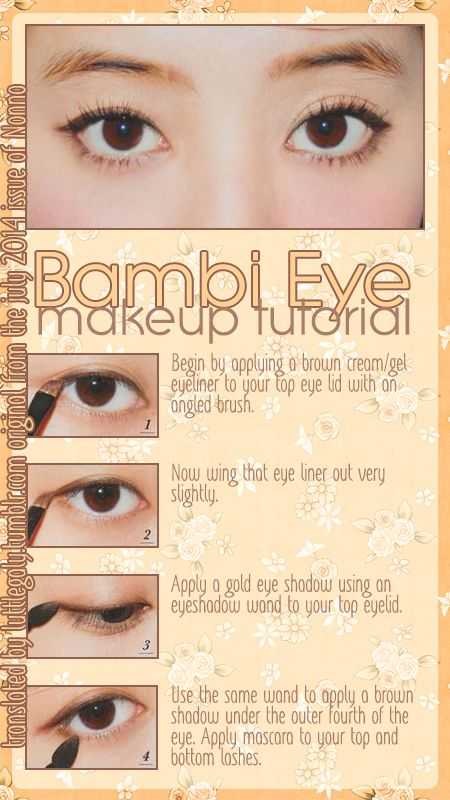 Bambi Eyes Makeup Tutorial from the July 2014 issue of Nonno.