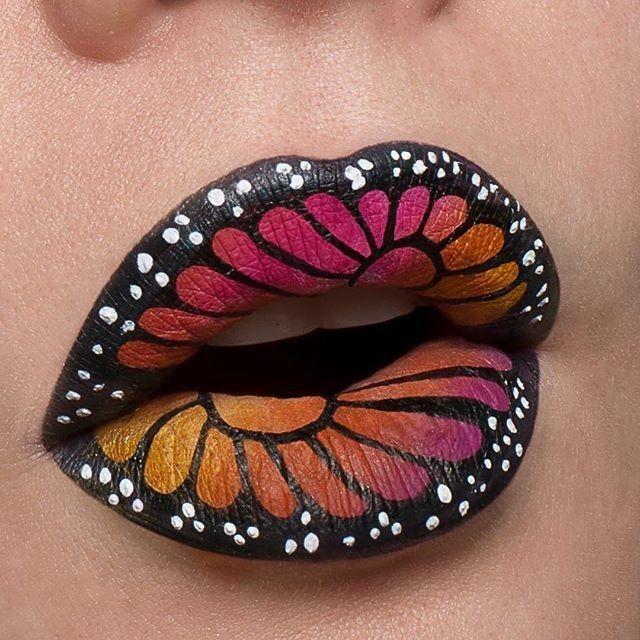 Beautiful butterfly lips feat. 'Black Velvet' Velvetine via @jilltakesphotos...