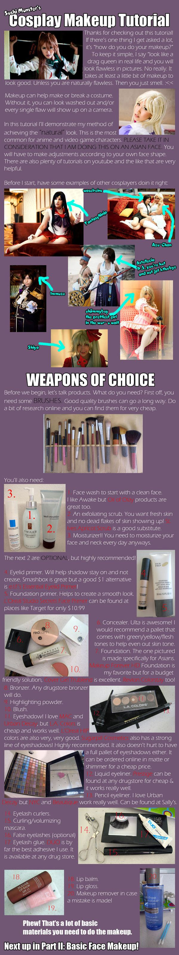 Cosplay Makeup Tutorial Part I by the-sushi-monster... on @deviantART // this is...