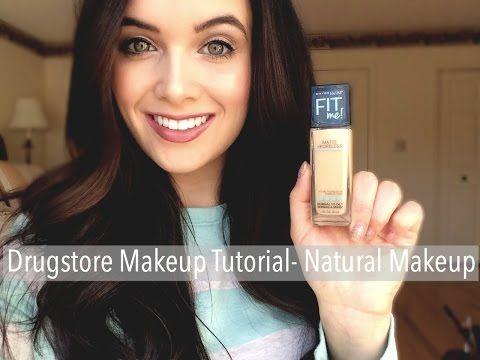 Drugstore Makeup Tutorial - Maybelline Fit Me Matte & Poreless - YouTube