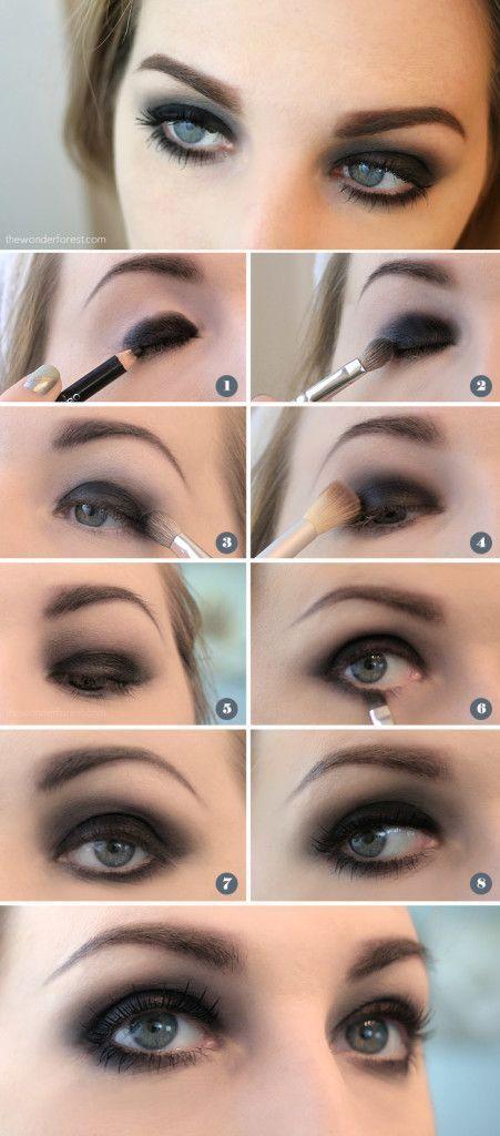 Easy Black Smokey Eye Tutorial - perfect for pirate eyes!