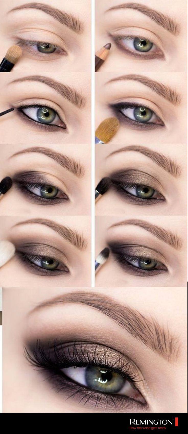 Este sencillo y lindo maquillaje hará que tu mirada sea la protagonista de la n...