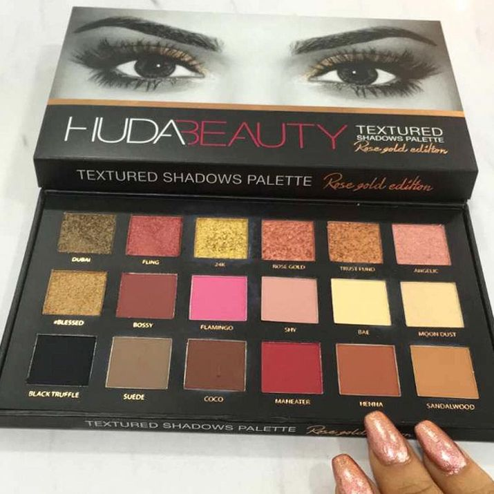 FIRST LOOK AT THE HUDA BEAUTY EYESHADOW PALETTE