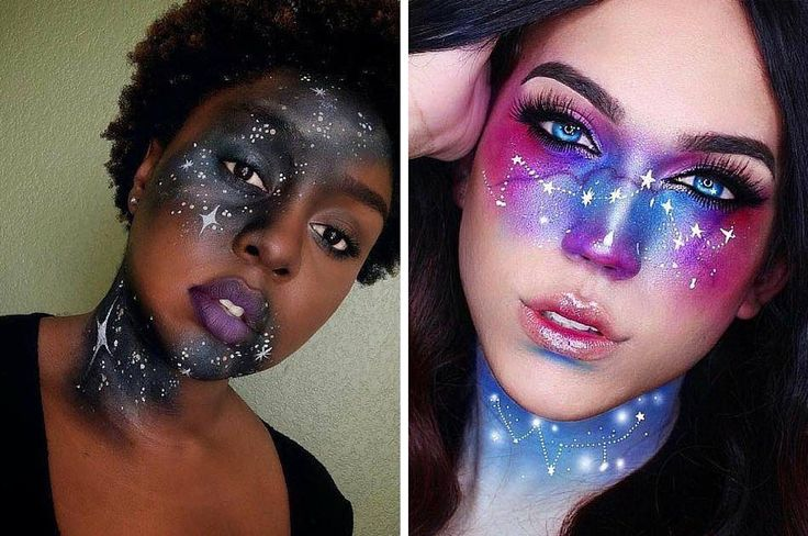 Galaxy Makeup Ideas | Creative DIY Makeup Ideas You Can Try for your next Costum...