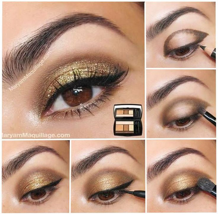 Golden Party Eye Makeup