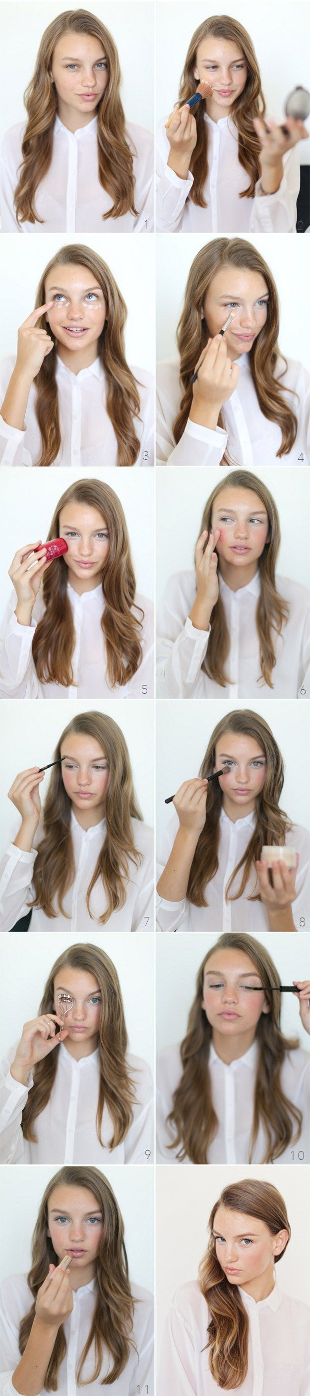 How to Do Easy Makeup for Work | Natural Look by Makeup Tutorials at  | Makeup T...
