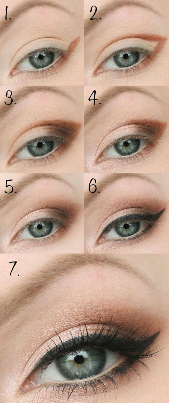 If your eyes are bright and colorful, then you should definitely try this makeup...