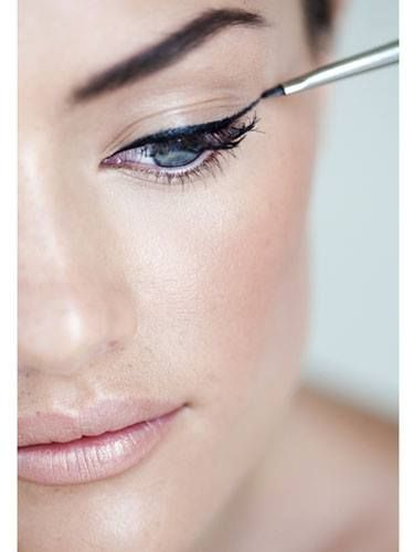 Keep your eyes open when applying liquid liner—otherwise your line will look u...