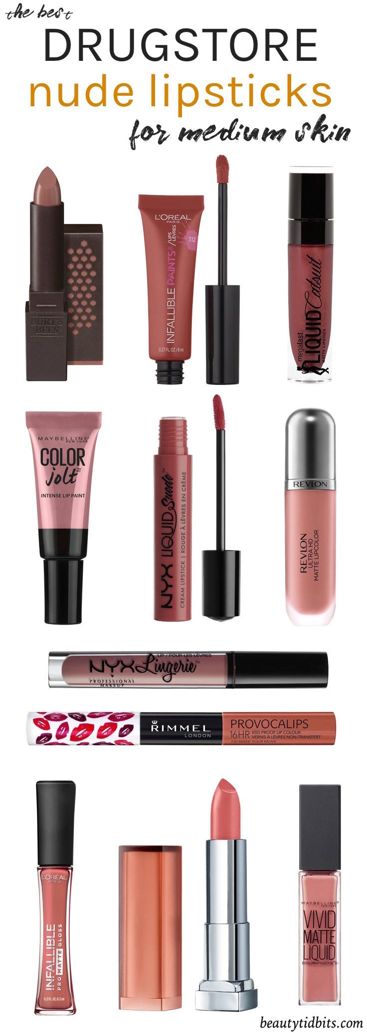 Looking for the best drugstore nude lipstick for your fair-medium olive skin ton...