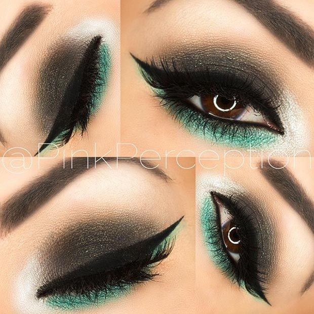 Makeup Ideas 2017 2018 Black And Green Eye Makeup Look