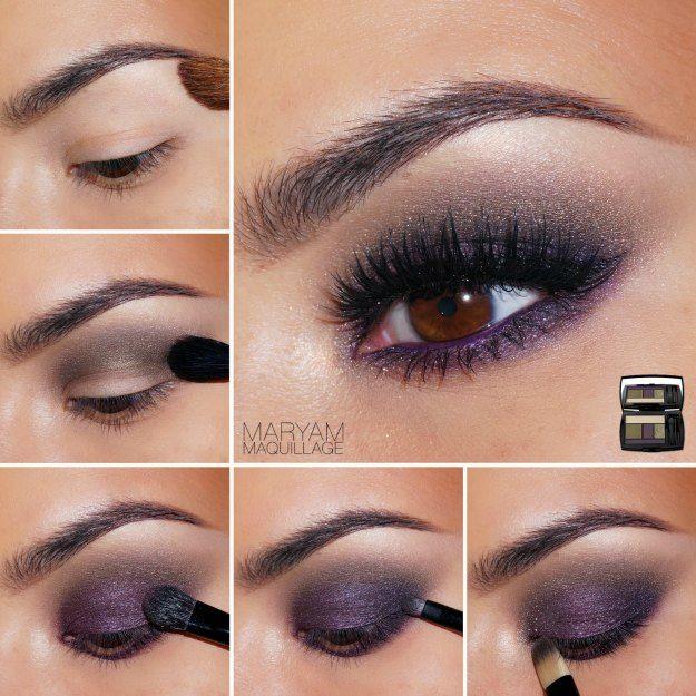 Plum smokey eye + peach lips   glam makeup tutorial youtube.