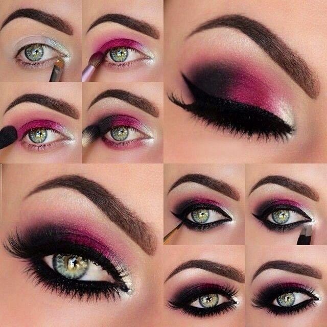 Sexy plum smokey eyes tutorial - so gorgeous!...x