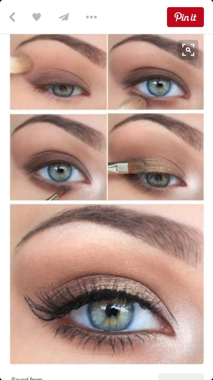 Soft Warm Brown and Golds great for green and blue eyes