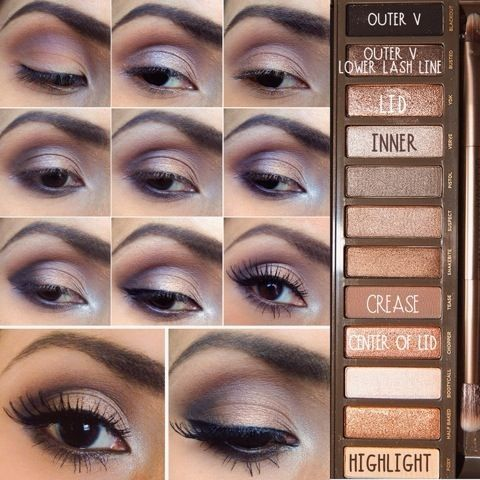 Urban Decay Naked 2 Makeup tutorial by lesmess123