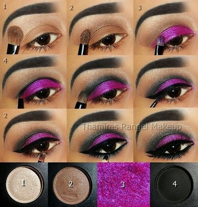 Winged Purple Eye Makeup Tutorial #eyeshadow #makeup #beauty