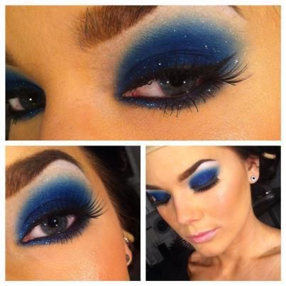 blue makeup for brown eyes, looks fine on blue, but my little brownies our there...