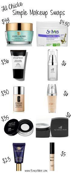 Simple Swaps: Makeup Edition – Vol 1. Our favorite makeup dupes. #FCnextdoor...