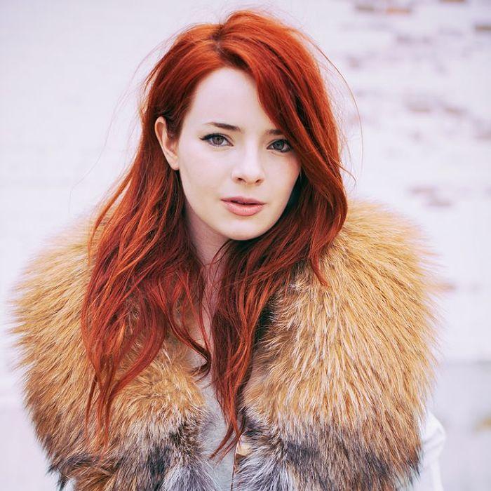 Flaming red hair