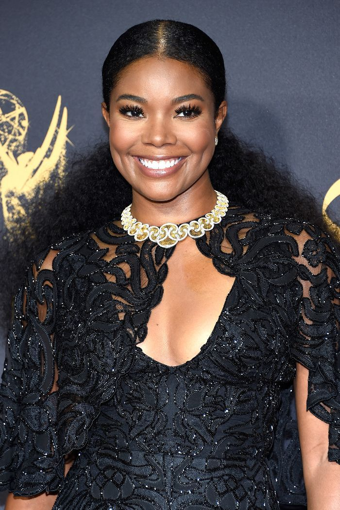 Gabrielle Union Slicked-Back Ponytail