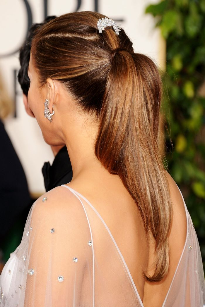 Jennifer Lopez Slicked-Back Ponytail