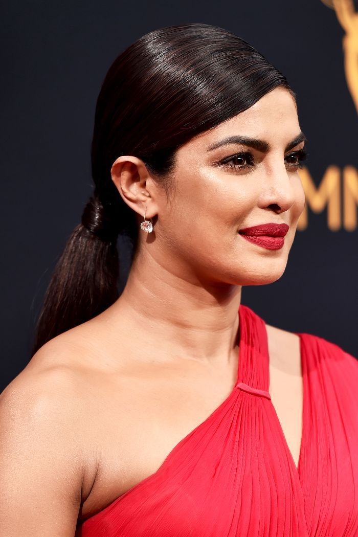 Priyanka Chopra Slicked-Back Ponytail