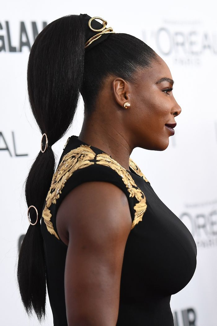 Serena Williams Slicked-Back Ponytail