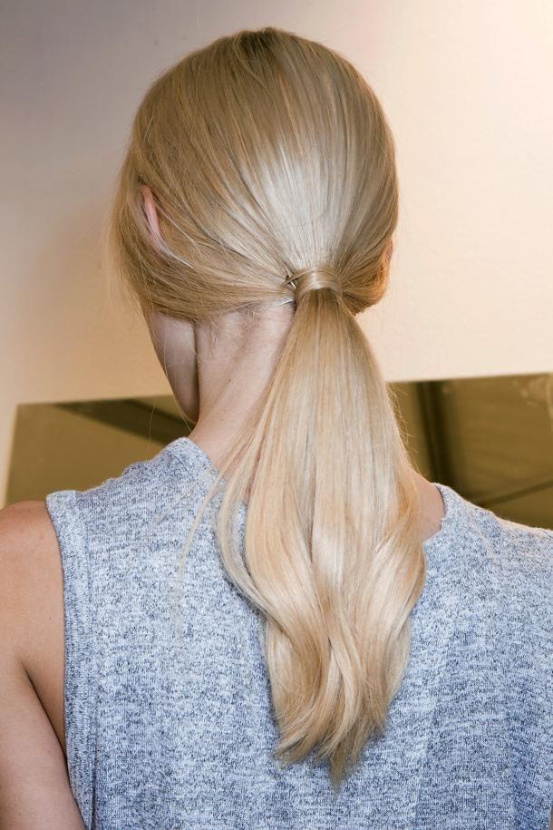 Sleek ponytail