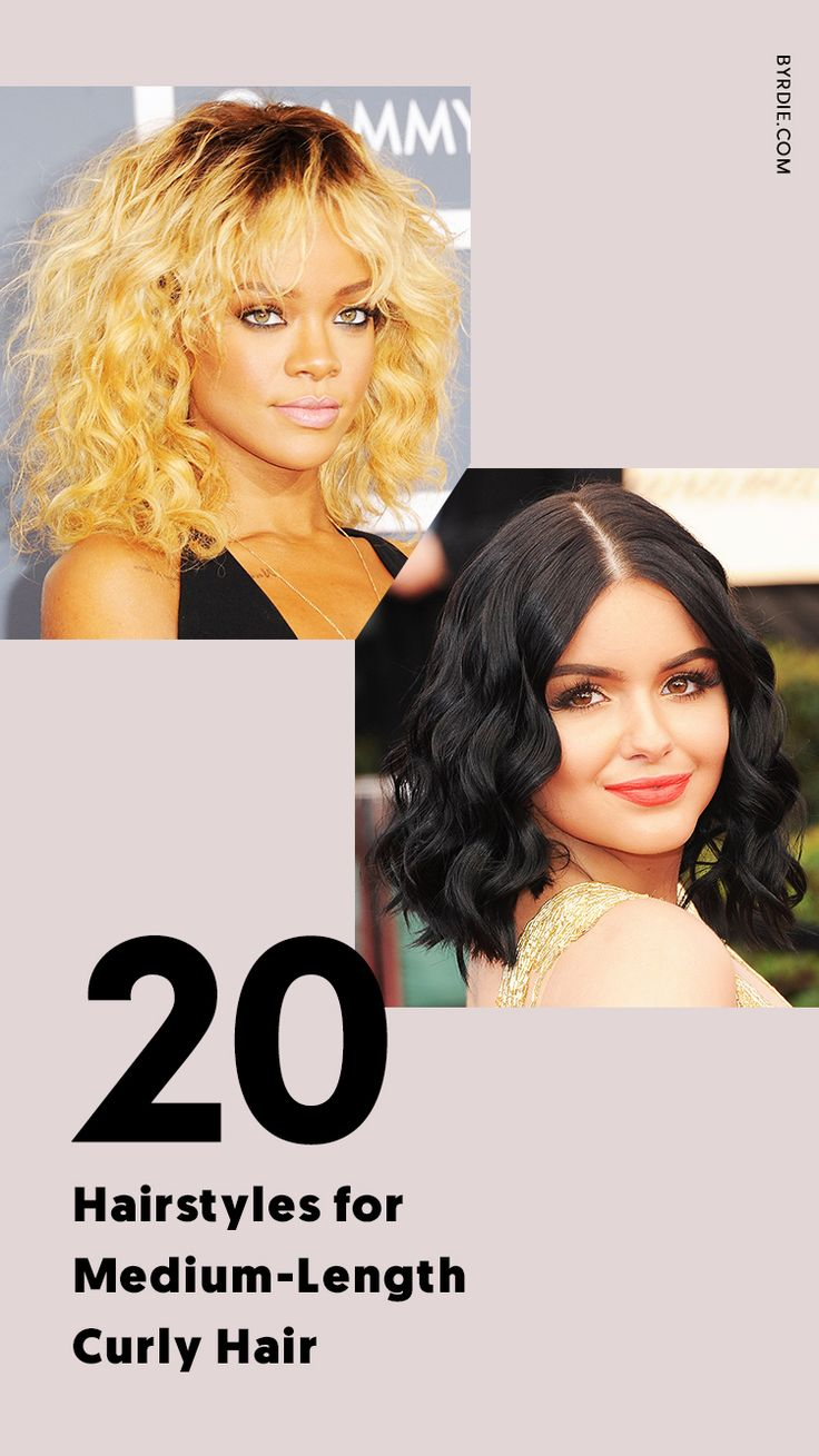 The best hairstyles for medium-length curly hahir