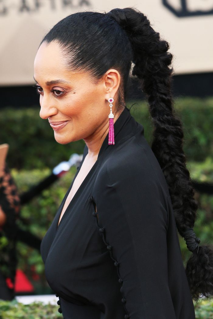 Tracee Ellis Ross Slicked-Back Ponytail