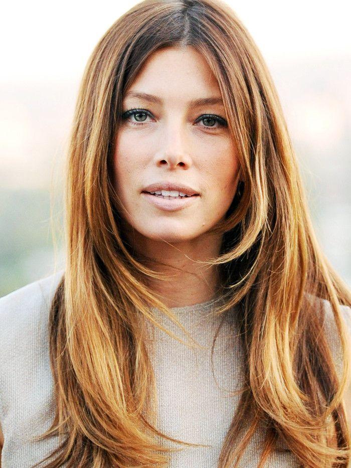 layered haircuts: Jessica Biel layered hair