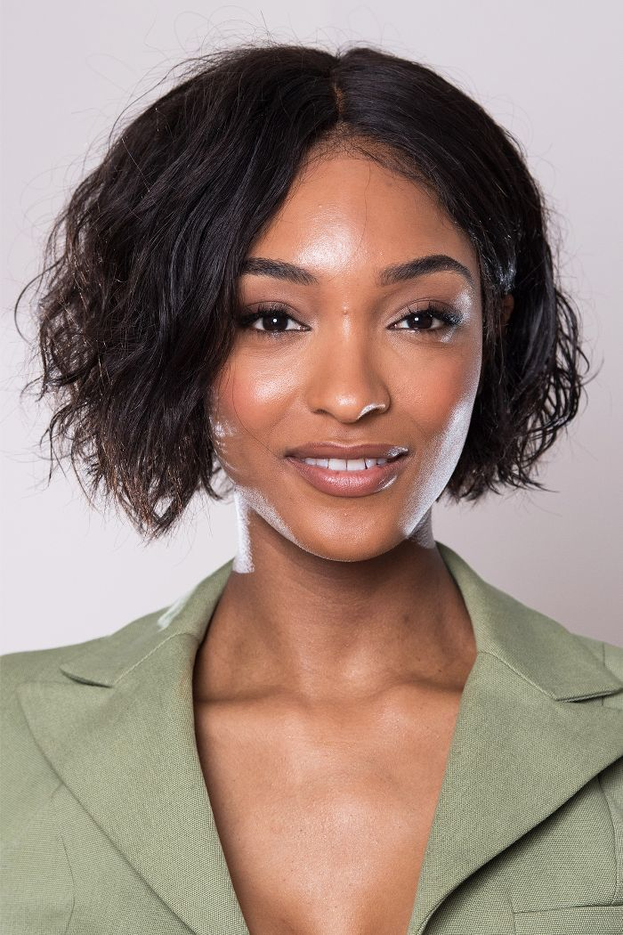 layered haircuts: Jourdan Dunn layered hair