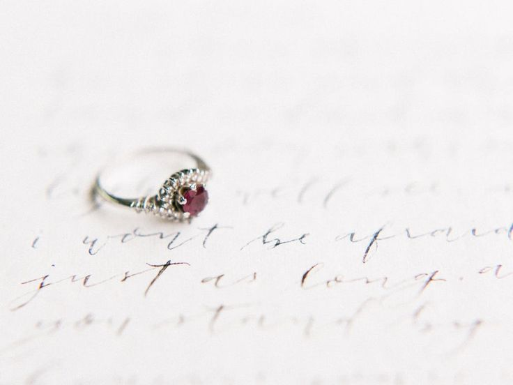 Ruby engagement ring | Photography: Koman Photography   Read More: www.stylemepr...