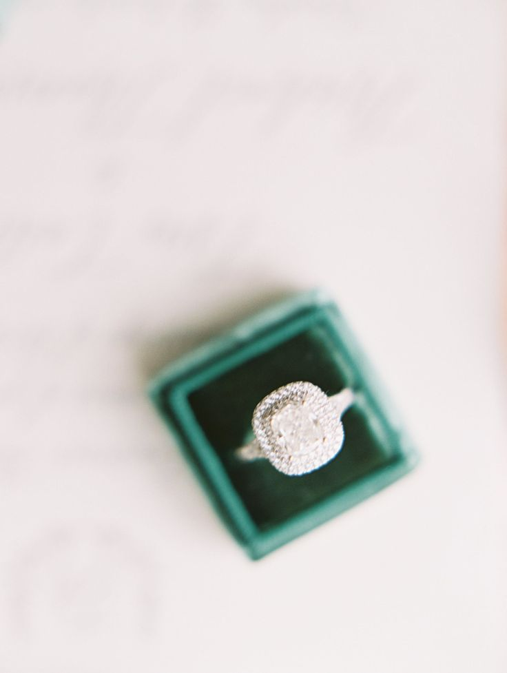 square cut halo engagement ring | Photography: Clary Pfeiffer  Read More: www.st...